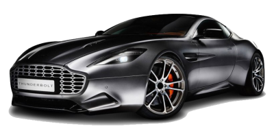 Black Aston Martin PNG File