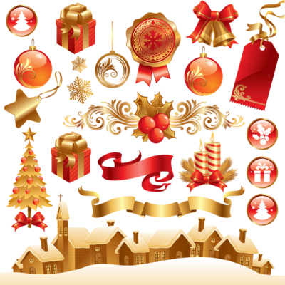 Christmas Elements Transparent Background