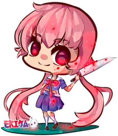 Female Anime Yuno Gasai Transparent PNG