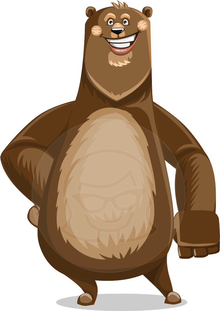 Smiling Bear Vector Transparent PNG