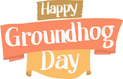 Groundhog Day Text Font Line For Quote