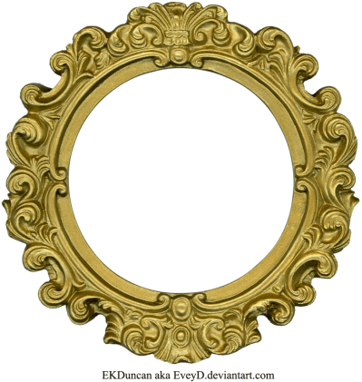 golden-round-frame