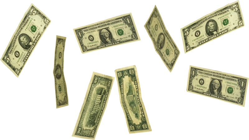 money-background-Falling-transparent