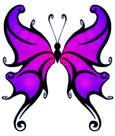 Purple Butterfly Clipart