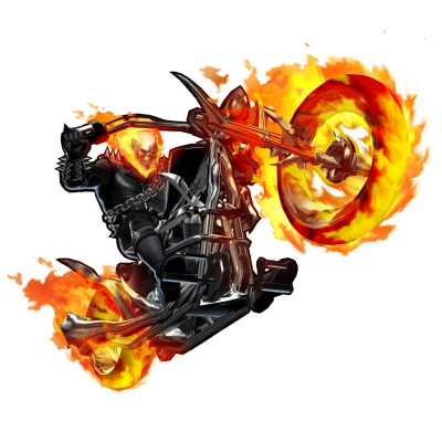 Ghost Rider Bike PNG File