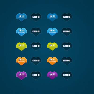 facebook like button icon psd 176715
