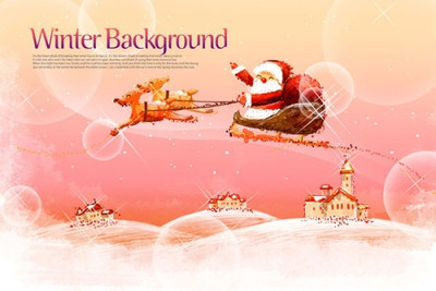 pink-handpainted-christmas-posters-psd-layered_176380