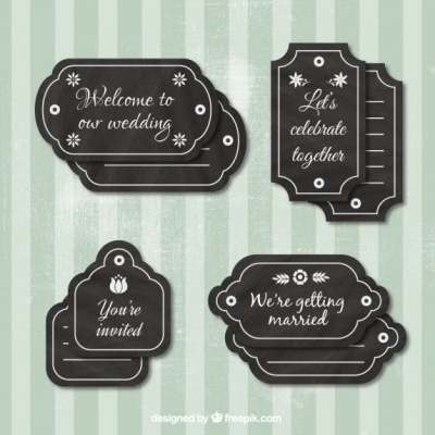 hand drawn wedding labels 851471