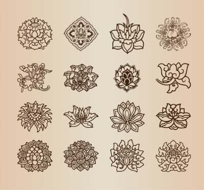 vintage-flower-pattern-elements-vector-set_569781