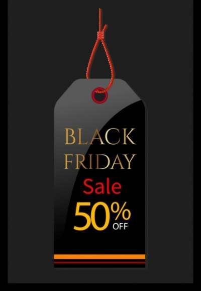 black friday tag template elegant black design 6836266