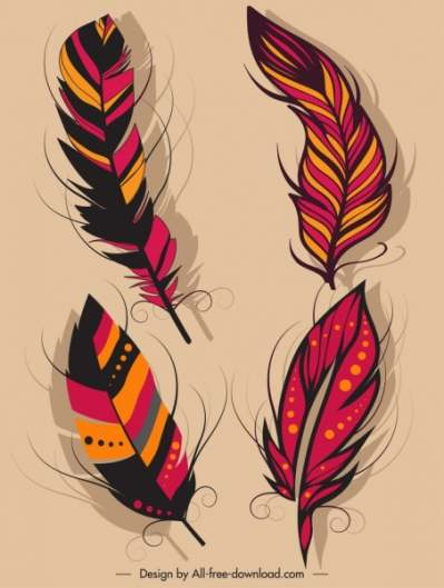 feather icons dark colorful classical decor 6840684