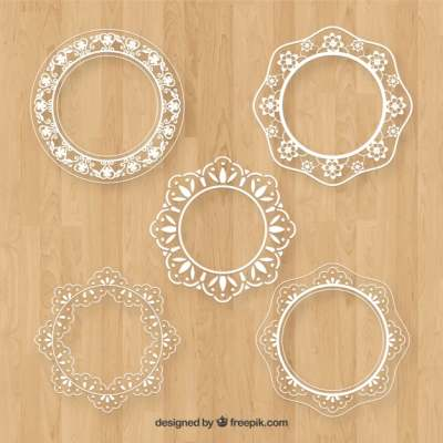collection-of-lace-frame-in-flat-design_1176574