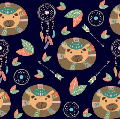 bear-head-icons-background-repeating-tribal-style-decoration_6828708