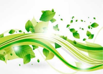 vector-eco-leaves-and-green-wave_267209
