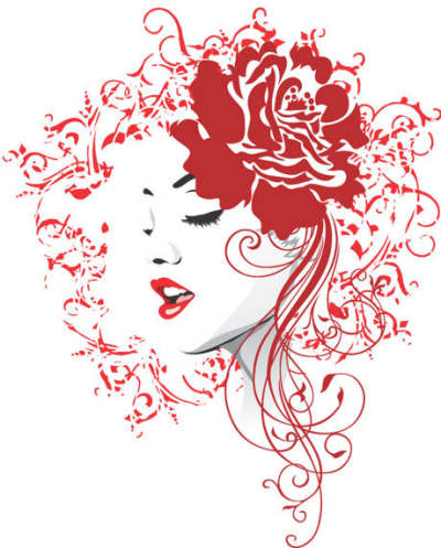 flower-heads-and-beautiful-girl-vector_533773