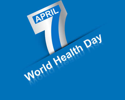 beautiful text 7 april world health day creative background vector 6821111