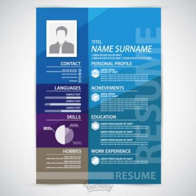 blue resume template 6821382