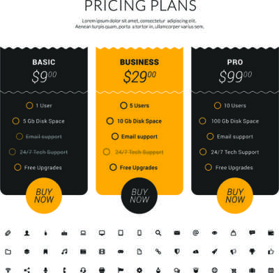 website-pricing-plans-banners-vector_584435