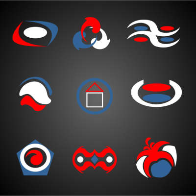 abstract logo vector illustrations on dark background 6824485