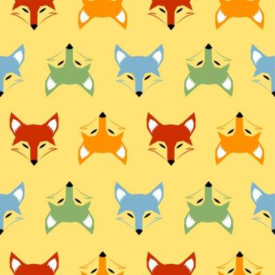 fox-heads-background-colorful-repeating-symmetry-design_6829304