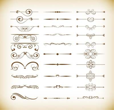 vector-set-of-calligraphic-design-decor-elements_569971