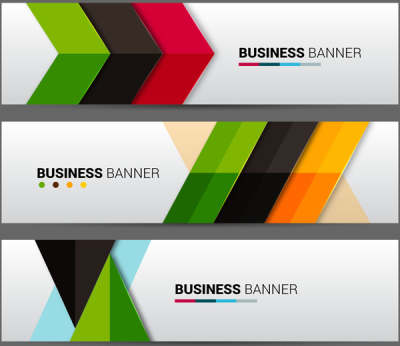 business banner sets with colorful arrows background 6822571