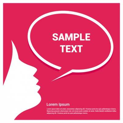 speech bubble template with girl 843699