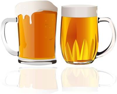 beer advertising background glasses icon colored reflection decor 266334