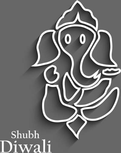 beautiful diwali card colorful artistic lord ganesha background 6819548
