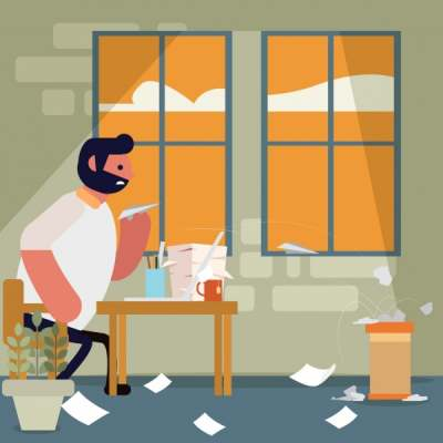 paper-work-painting-man-messy-room-cartoon-design_6837969