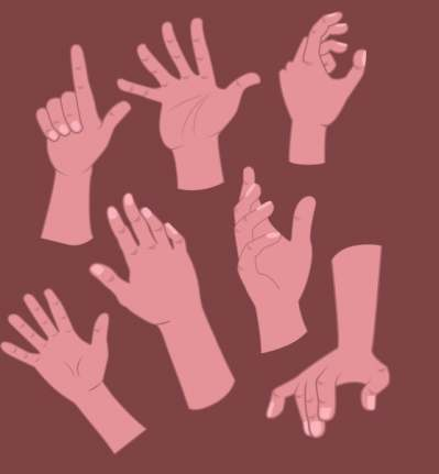 hand-signs-icons-brown-decor-cartoon-design_6836552