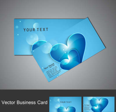 fantastic valentines day red colorful heart business card set 6818286