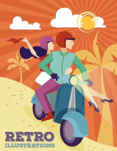 lifestyle-background-couple-motorbike-icons-retro-design_6838435