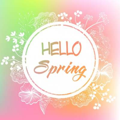 spring banner flowers sketch circle decoration 6833647