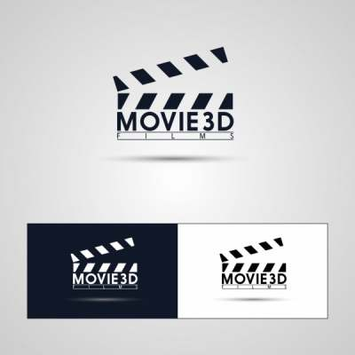 movie logotypes flat symbol black white design 6828720