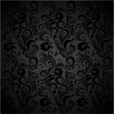 black background floral 02 vector 151698