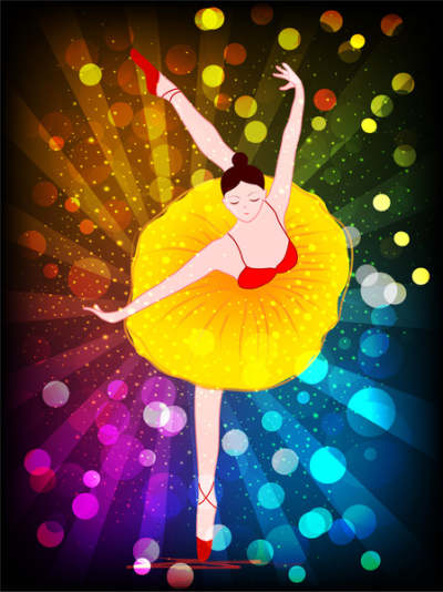 vector illustration of ballet dancer on bokeh background 6822811