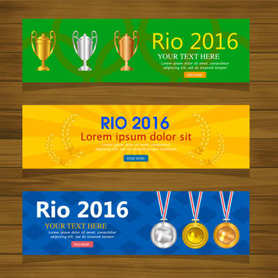 olympic rio 2016 banner sets with horizontal design 6823828