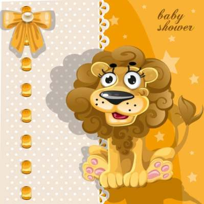 cartoon animal card 02 vector 181160
