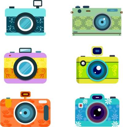 retro cameras collection various decoration types 6826557