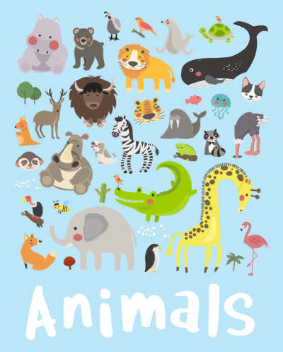 illustration drawing style set of wildlife 2685802