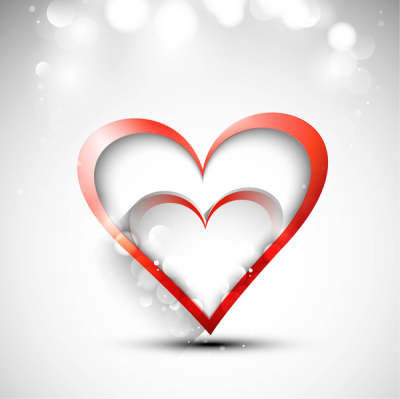 beautiful hearts for happy valentines day card fantastic background vector 6819397
