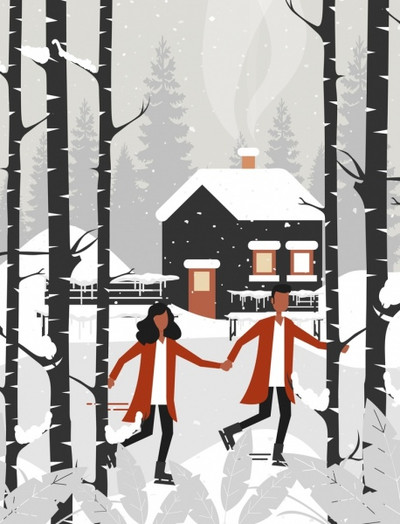winter-landscape-painting-snowfall-couple-cote-icons_6838160